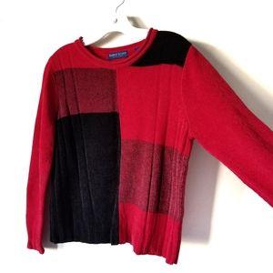 Karen Scott Women's red and black sweater size PS